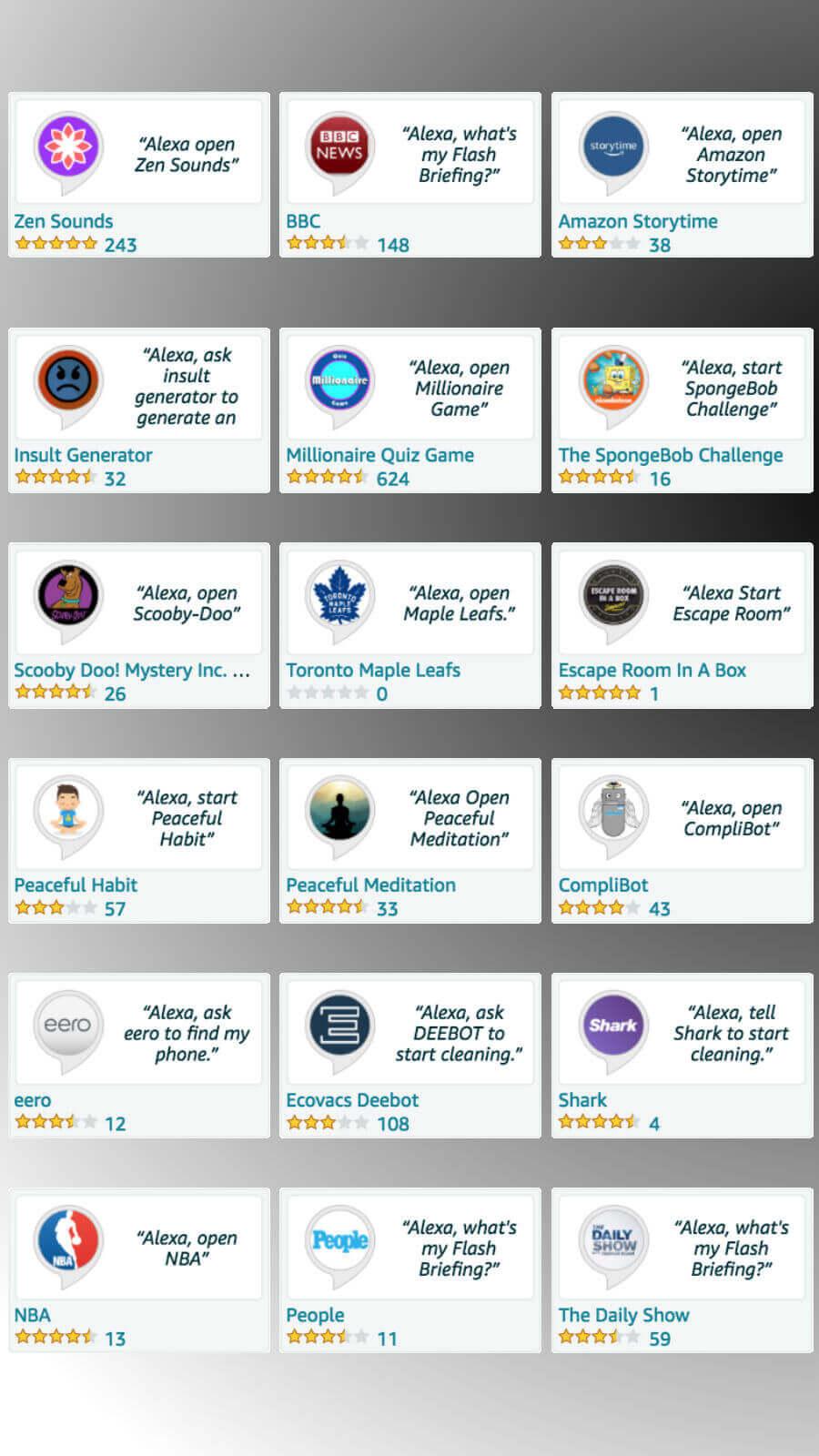 Alexa Skills in Canada: The Featured List | Alexa in Canada