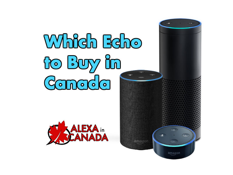 Amazon Echo Buy Canada