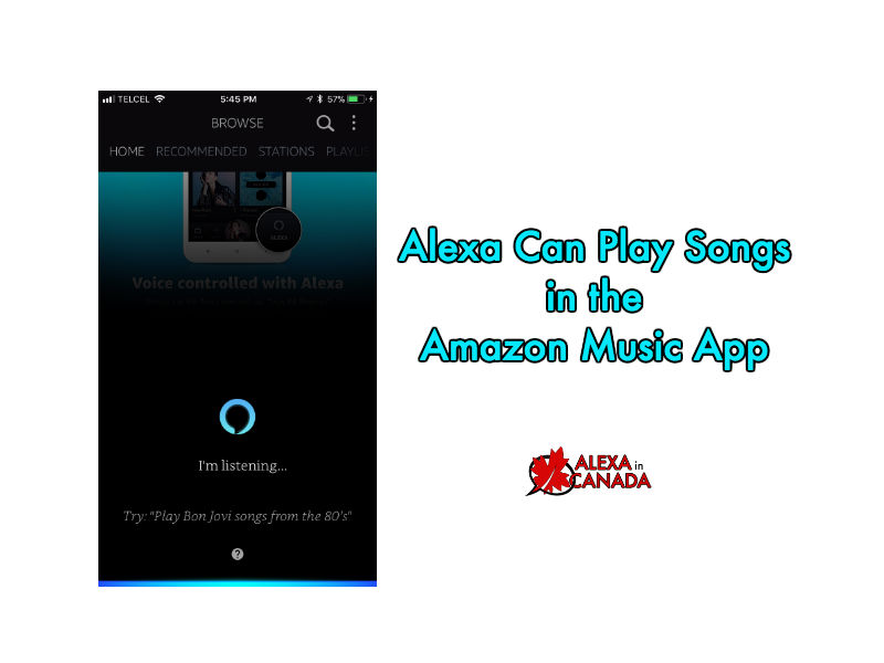 Alexa Can Play Songs in the Amazon Music App | Alexa in Canada