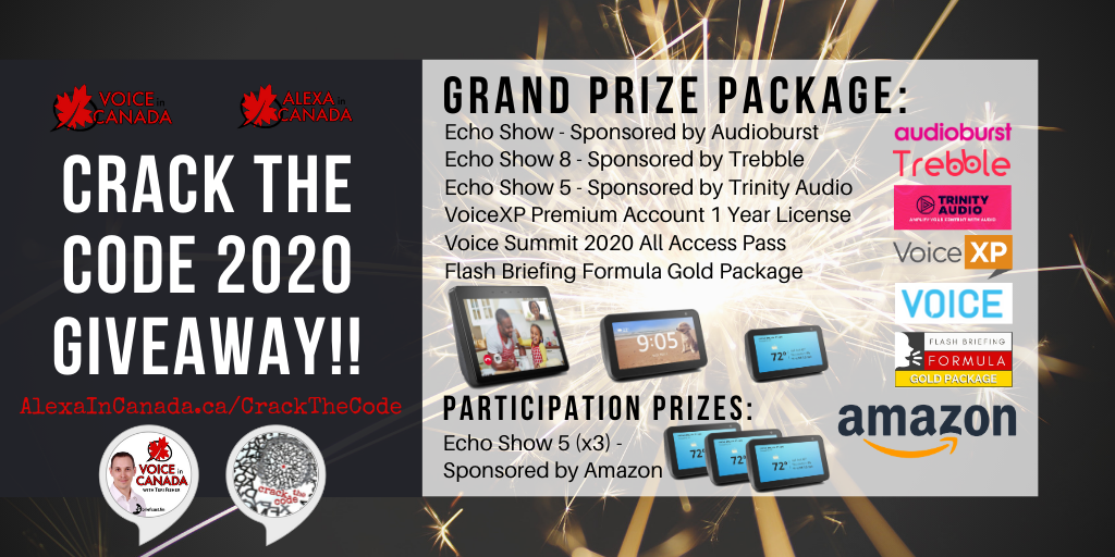 Voice In Canada Flash Briefing: 500th Episode Giveaway! WIN PRIZES worth $3000!